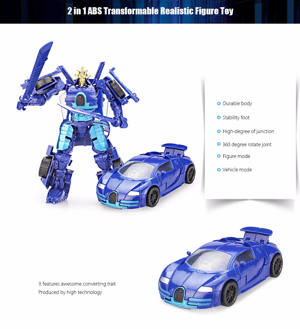 Transform 3D Robot Vehicle Puzzle ABS Toy New Year Gift