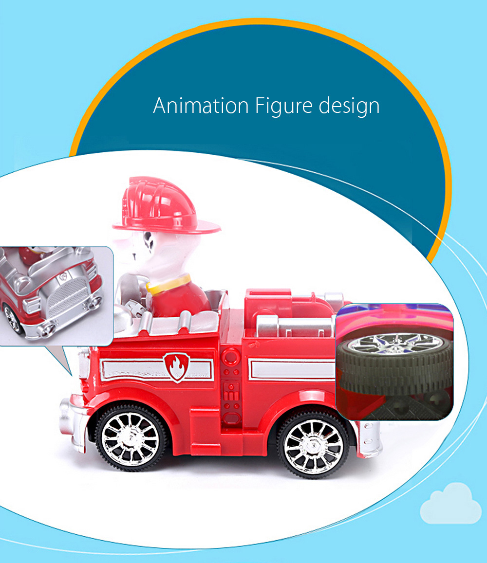 Animation Figure Style Electric Car Model Vehicle with Music / Light