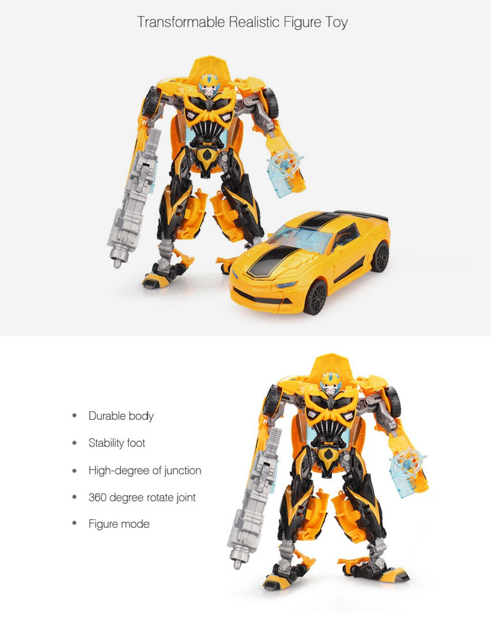 3D Robot Transform Car Puzzle ABS Toy New Year Present