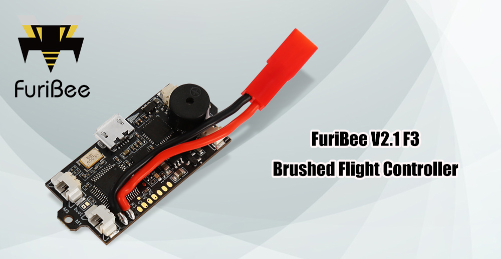 FuriBee V2.1 F3 EVO Brushed Flight Controller 1 - 3S with Buzzer