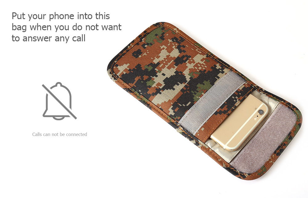 KELIMA Phone Signal Shielding Anti-radiation Bag Camouflage Style