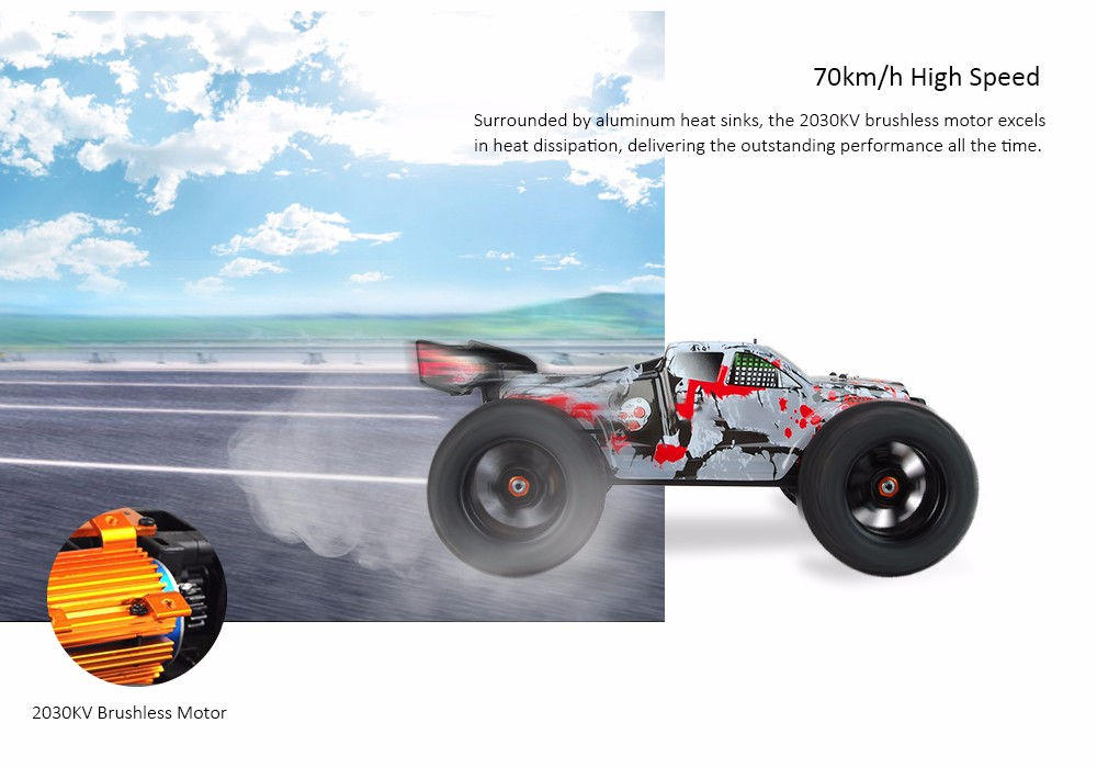 DHK HOBBY 8384 1:8 4WD Off-road Racing Truck RTR 70km/h / Wheelie / High-torque Servo