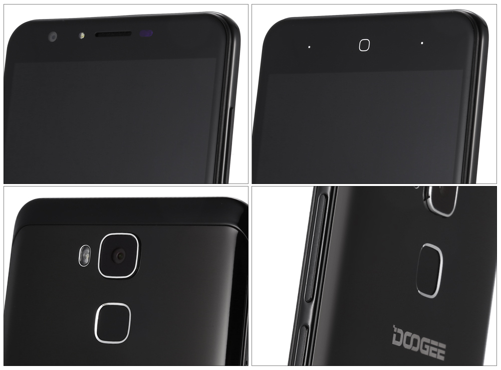 Doogee Y6 Piano Black Android 6.0 5.5 inch 4G Phablet MTK6750 Octa Core 1.5GHz 4GB RAM 64GB ROM 8.0MP + 13.0MP Cameras HiFi