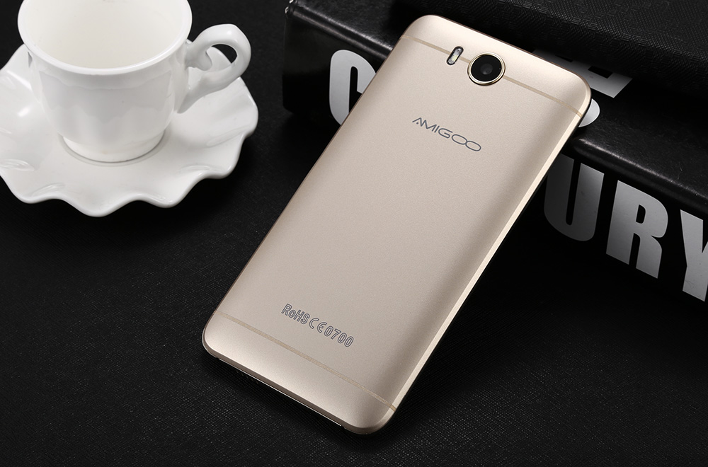 AMIGOO X18 3G Phablet 5.5 inch Android 5.1 MTK6580 Quad Core 1.3GHz 8GB ROM Dual Cameras