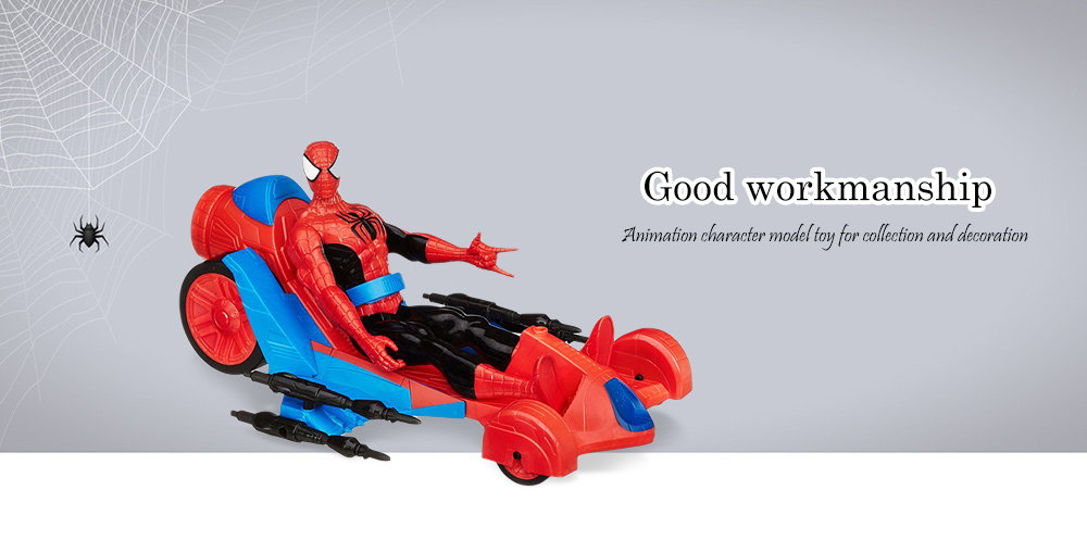Cartoon Figure with Vehicle Model New Year Gift
