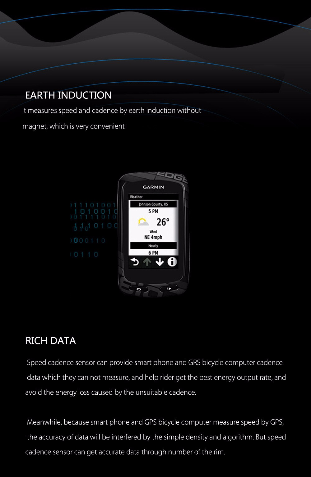 XING Dual Modes Bluetooth 4.0 ANT+ Speed Cadence Sensor Cycling Accessory