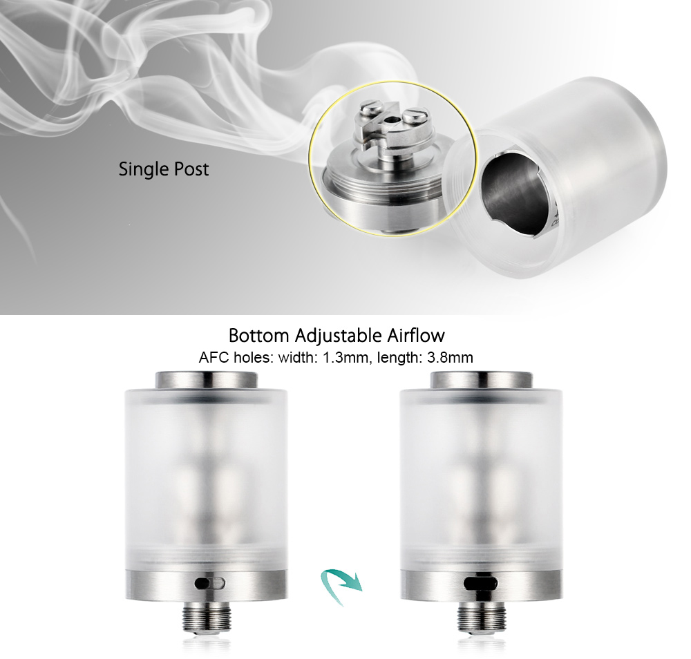 DS 2K16 RTA with 3.5ml Capacity / Single Post for E Cigarette