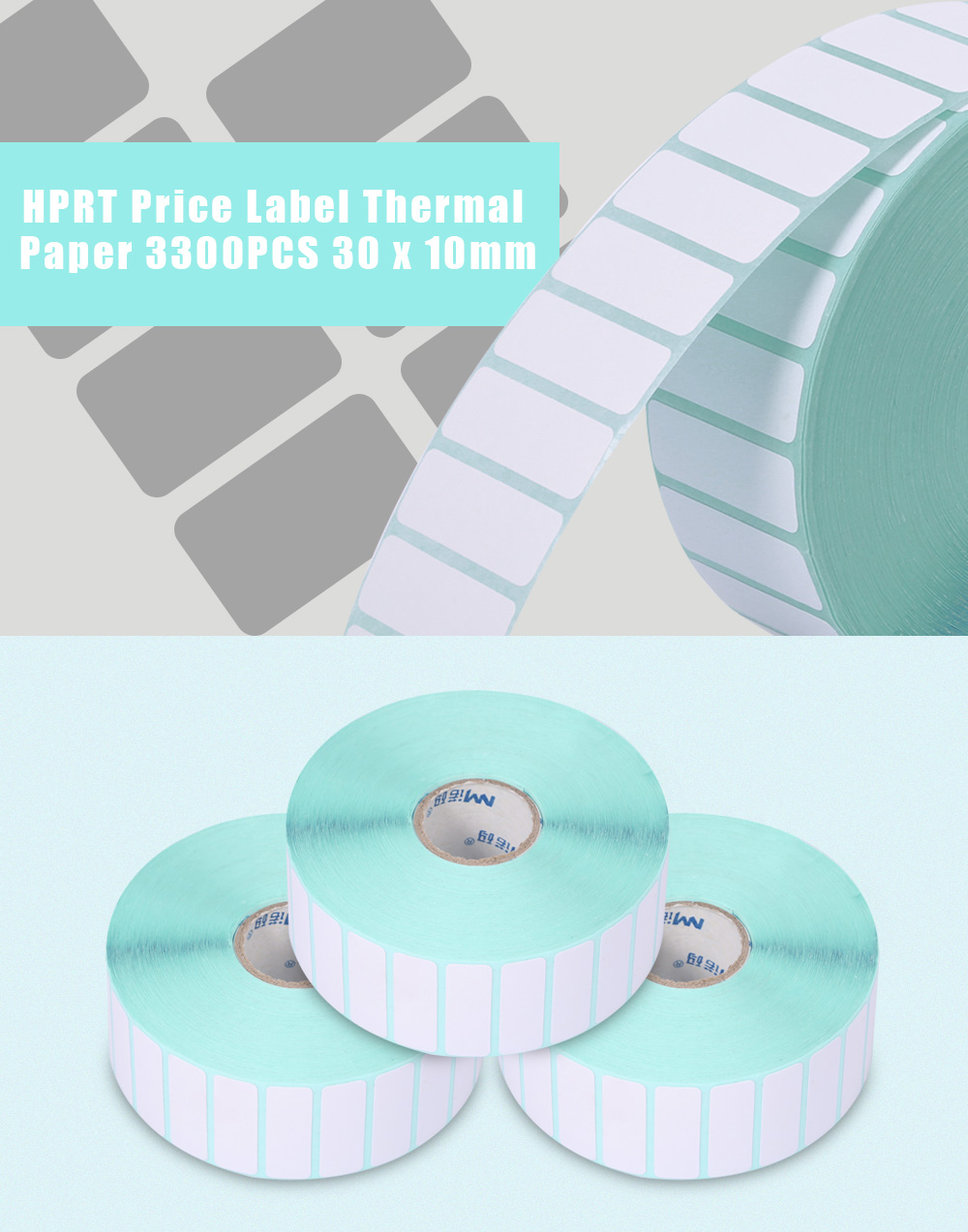 HPRT Thermal Label Paper Sticker Price Roll 3300PCS 30 x 10mm