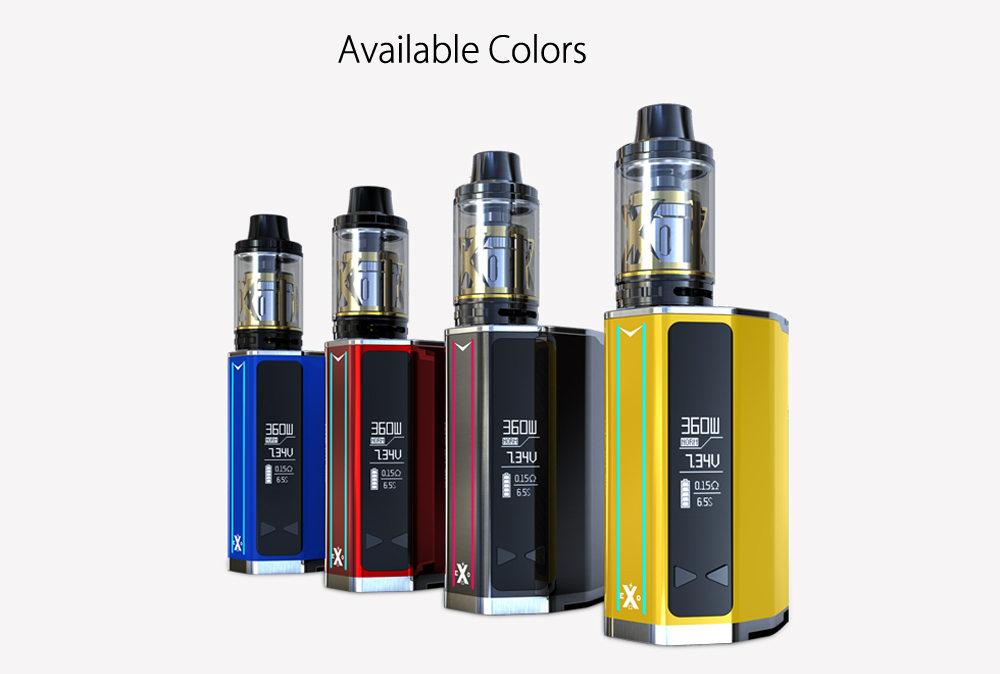Original IJOY EXO 360 Mod Kit with 360W / 220W / Supporting Four / Two 18650 Batteries for E Cigarette