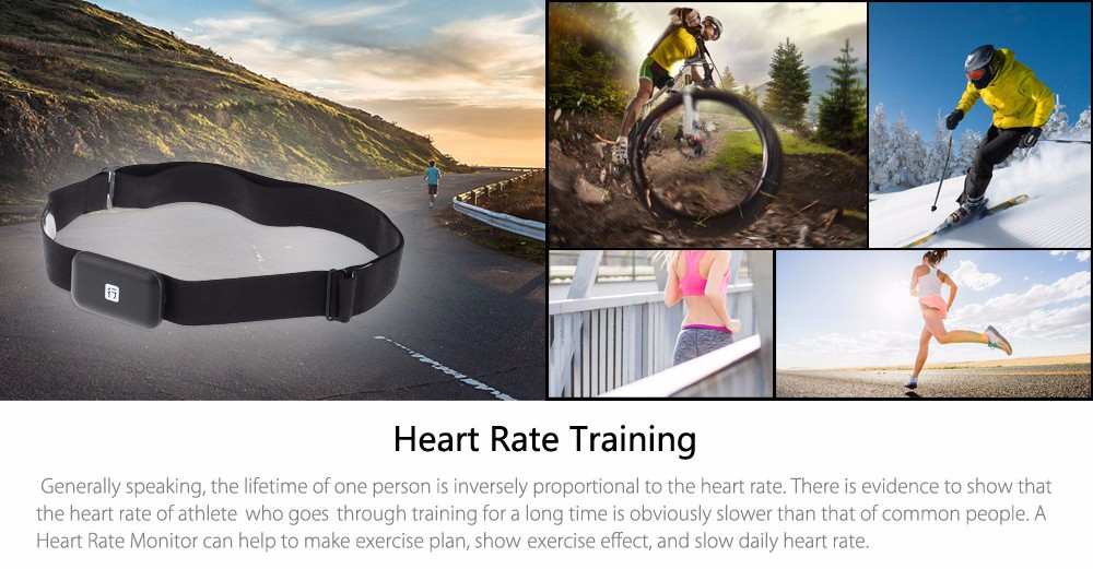 XING Bluetooth 4.0 Heart Rate Monitor ANT+ Smart Sensor Chest Strap for Outdoor Running