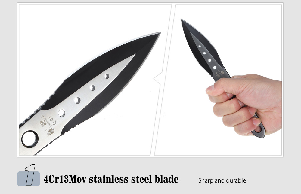 HX OUTDOORS Q - 04 4Cr13Mov Stainless Steel Fixed Blade Knife