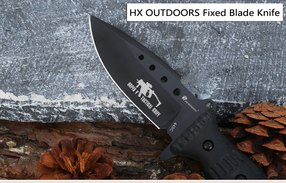 HX OUTDOORS D - 161A SOPER 440C Stainless Steel Fixed Blade Knife