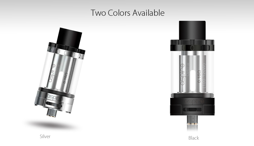 Original Aspire Cleito 120 120W Tank Atomizer with Smooth Controlled Airflow / Instant Vapor Production E Cigarette Clearomizer
