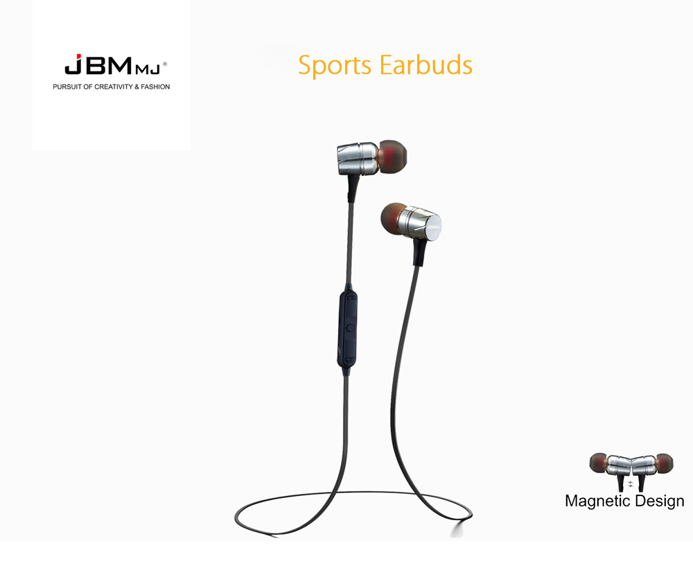 JBMMJ F16 Bluetooth Stereo Earbuds for Sports