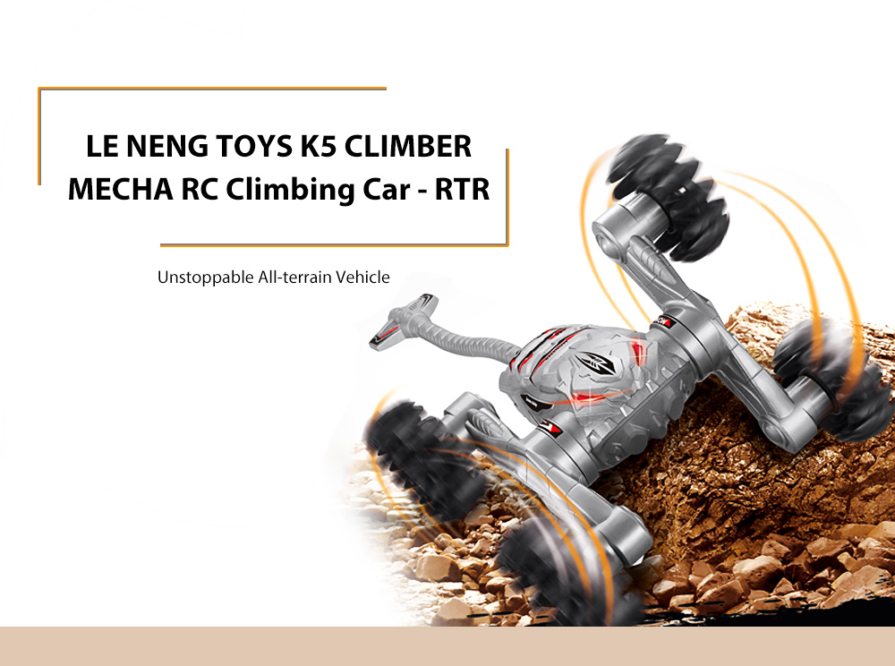 LE NENG TOYS K5 CLIMBER MECHA RC Climbing Car RTR 2.4GHz 4WD with Tail LED Eyes for Outdoor Running