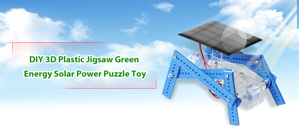 PXWG DIY Plastic Puzzle Robot Style Green Energy Solar Power Energy-saving Toy