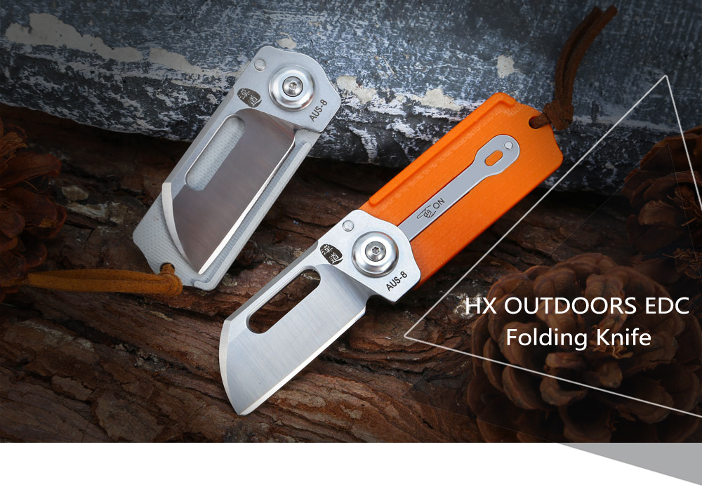 HX OUTDOORS ZD008 Portable Mini EDC Folding Knife with G10 Handle