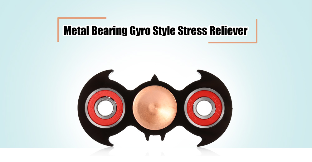 Metal Bearing Gyro Style Stress Reliever Pressure Reducing Toy for Office Worker