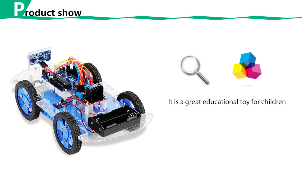 PXWG DIY Plastic Puzzle Vehicle Style Electric Powered Toy