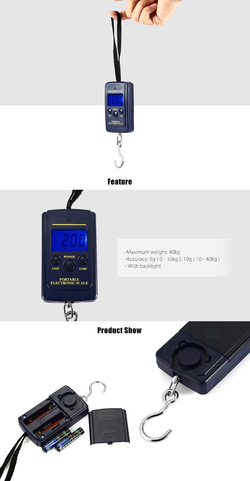 MH - 01 Portable High Accuracy Electronic Scale