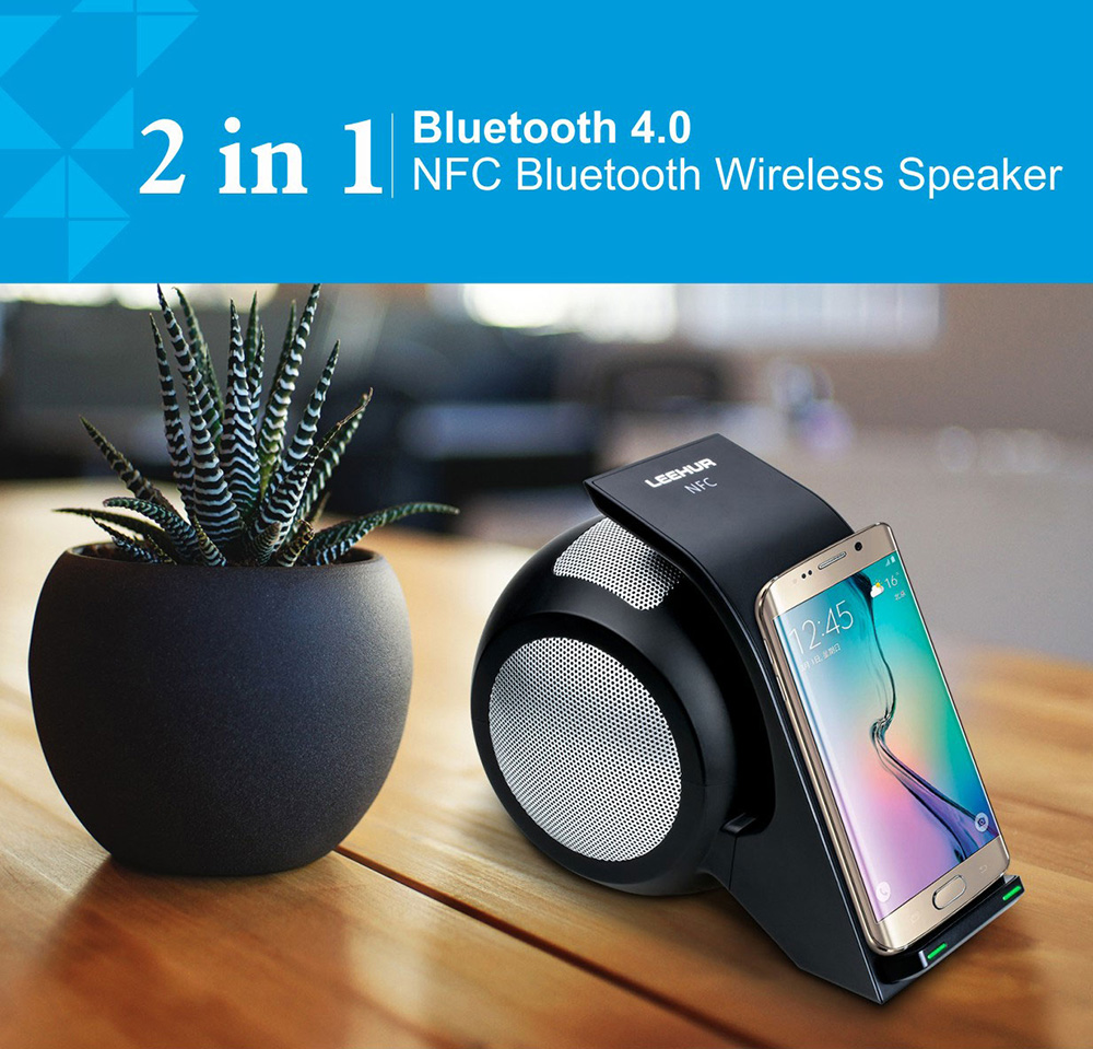 LeeHUR WN1 Wireless Charger Phone Charging Stand Bluetooth 4.0 Speaker Quick Charge