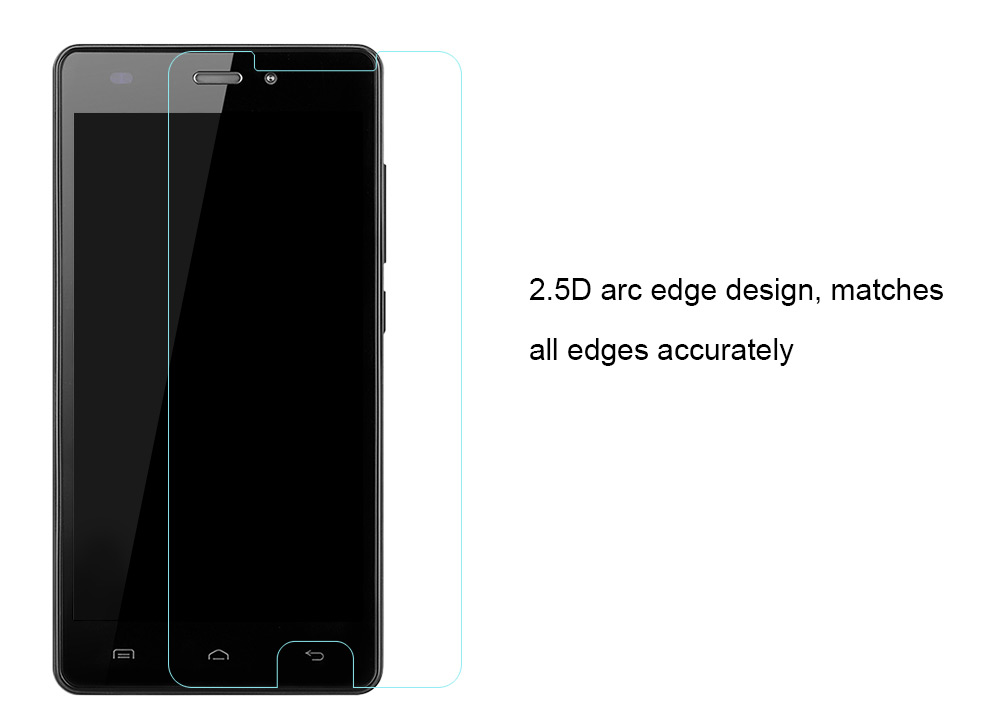 OCUBE Tempered Glass Screen Protective Film for DOOGEE X9 Pro 0.26mm 2.5D 9H Explosion-proof Protector