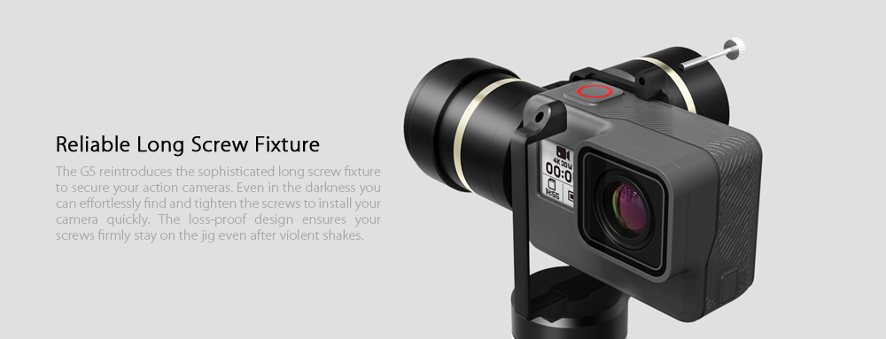 FY FEIYUTECH G5 3-axis Handheld Gimbal Splashproof / Self-timer / 360 Degree Panning for Sports Cameras