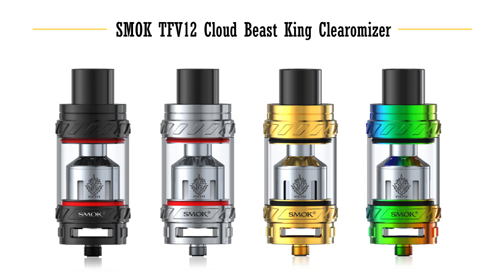 Original SMOK TFV12 Cloud Beast King Atomizer with 0.12 ohm / Top Filling / 6ml for E Cigarette