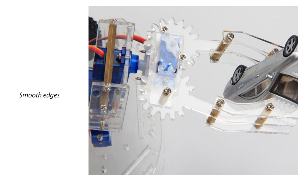 PXWG DIY Plastic 3D Puzzle Mechanical Arm Style Electric Powered Toy