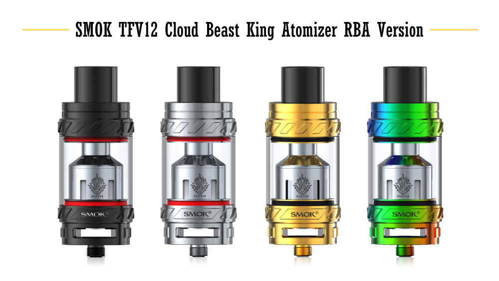 Оригинальный SMOK TFV12 Cloud Beast King Атомайзер RBA версия