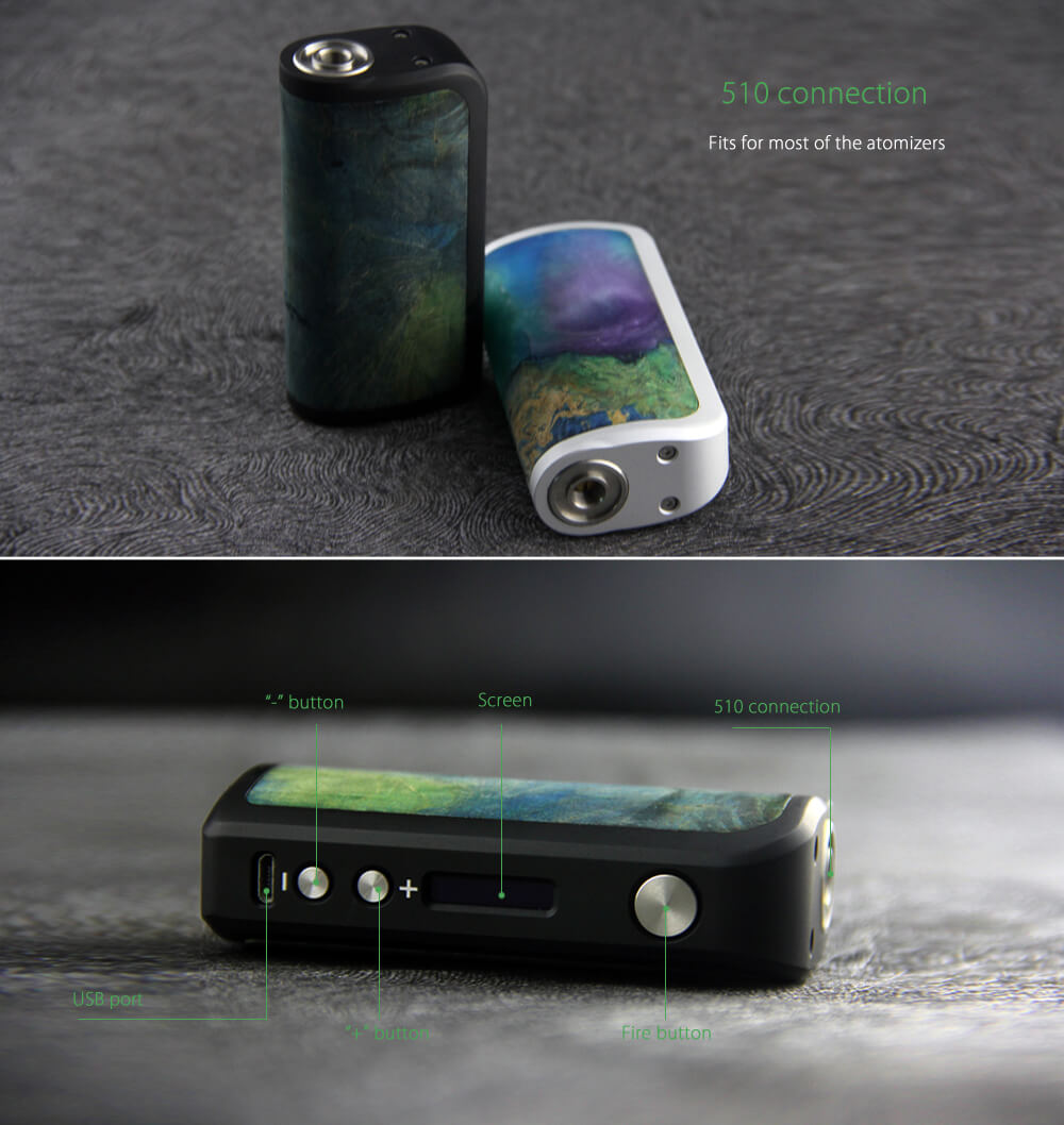 Original Arctic Dolphin Adonis 80W Box Mod with 93 - 343C / 200 - 650F for E Cigarette