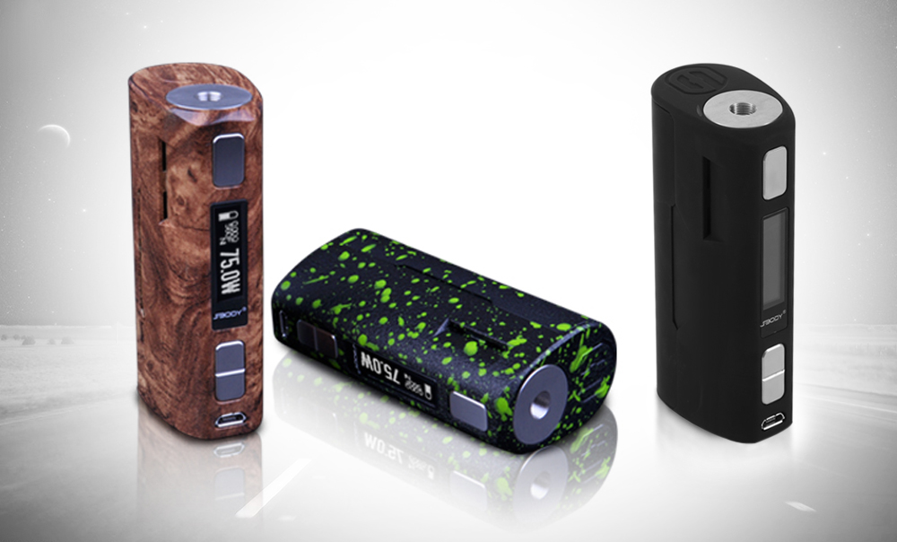 Original SBODY C1D2 DNA75W TC Mod with Evolv DNA75 Chip / 200 - 600F / 18650 Battery Adapter / Preheat Function for E Cigarette