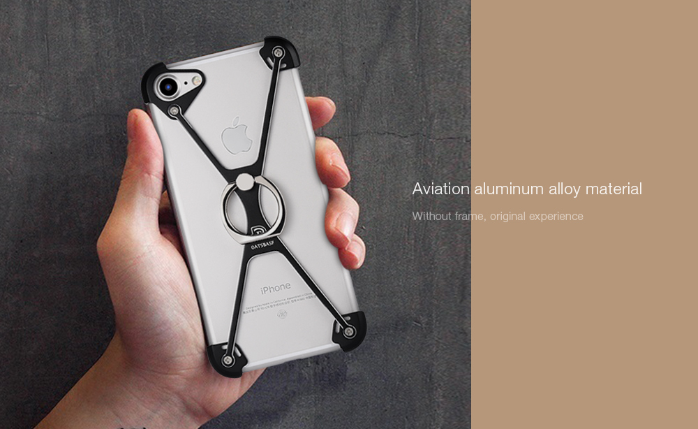 OATSBASF Aluminum Alloy Frame Protector Ring Holder for iPhone 7