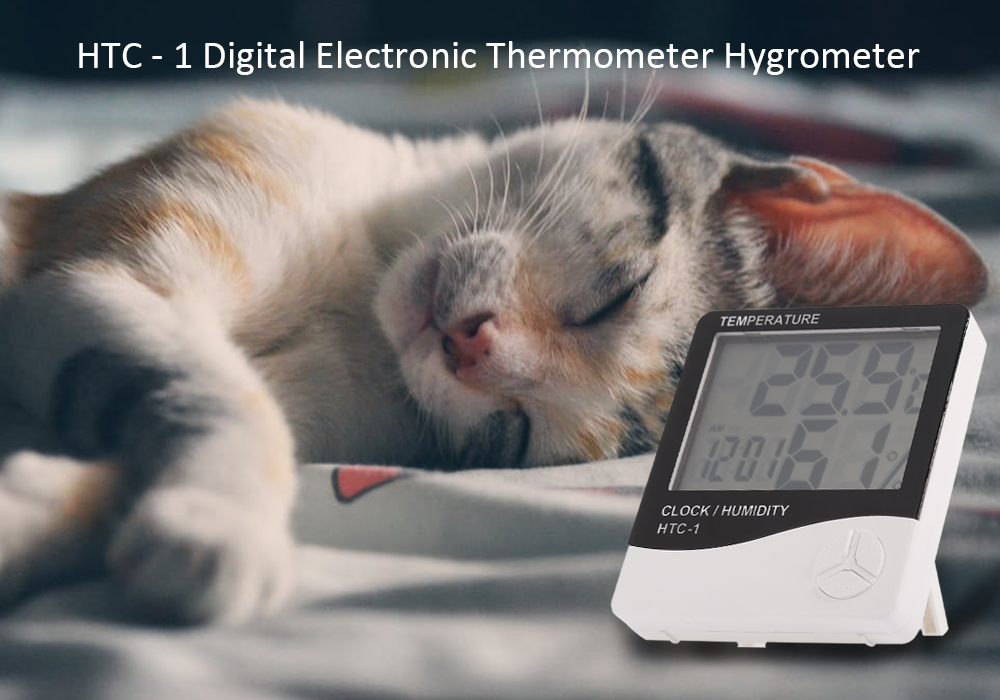 HTC - 1 Digital Electronic Thermometer Hygrometer with LCD Display