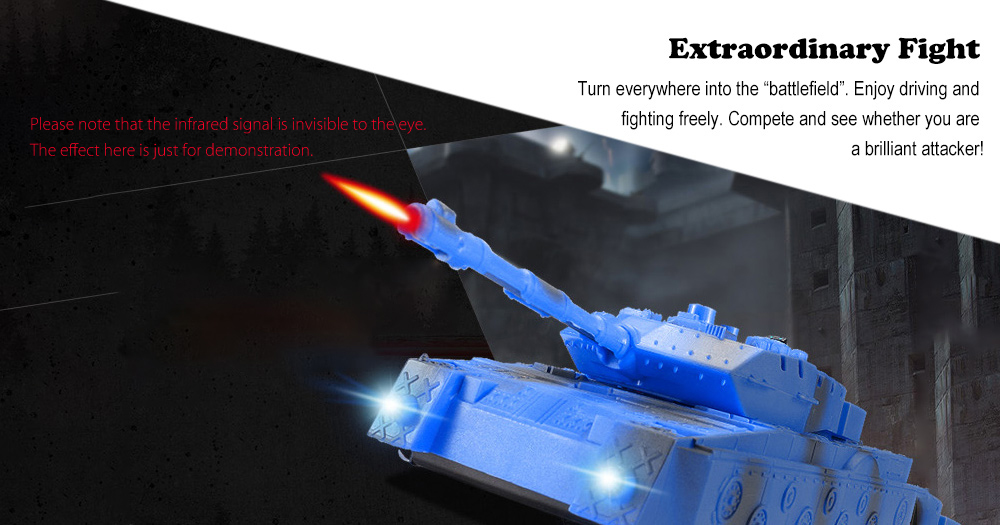 JJRC Q5 Wall Climbing Infrared Fighting Tank Set RTR Dual Modes / LED Lights / 360 Degree Rotation