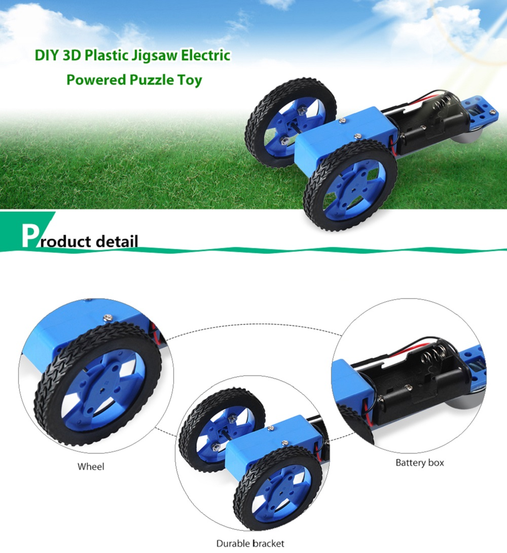 PXWG Plastic 3D Puzzle Vehicle Style Electric Powered Toy