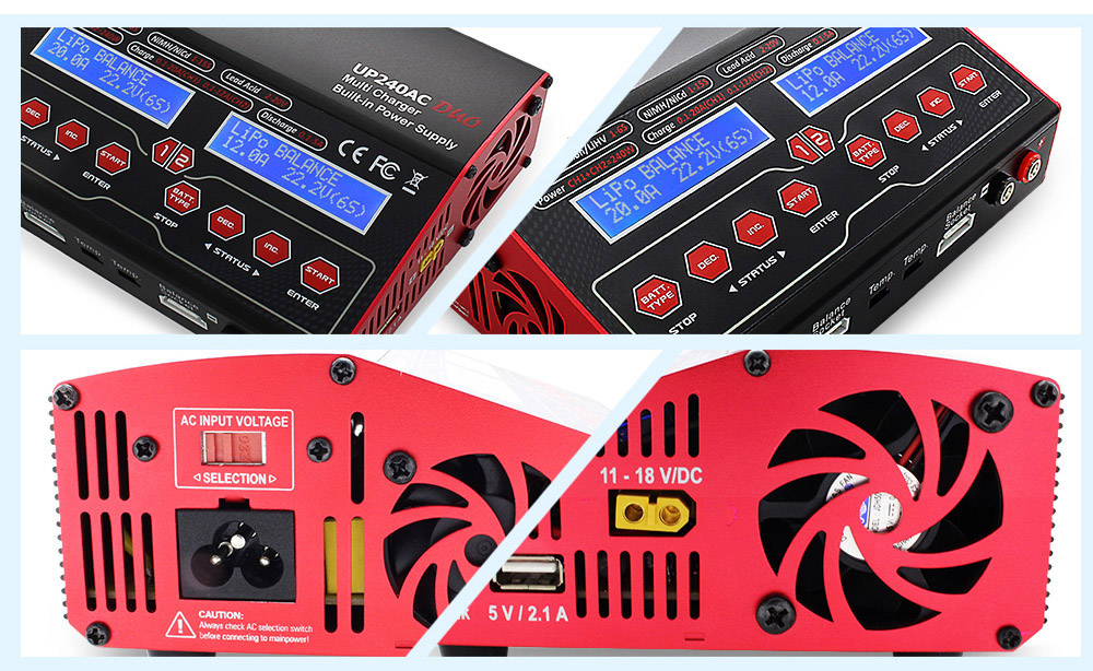 ULTRA POWER UP240AC DUO LiPo Battery Balance Charger for Aeromodelling