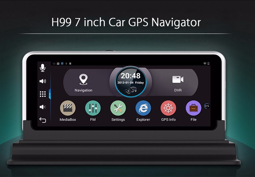 H99 7.0 inch 1080P 170 Degree FOV WiFi GPS Navigation System for Car Vehicles with Allwinner Chip
