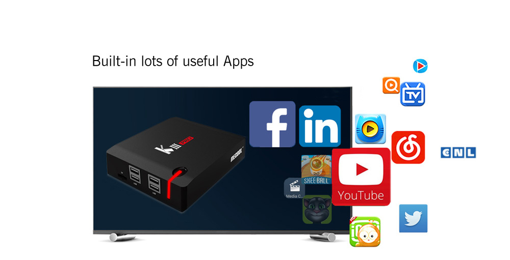 MECOOL KIII PRO TV Box Amlogic S912 Octa Core Android 6.0 OS Media Player