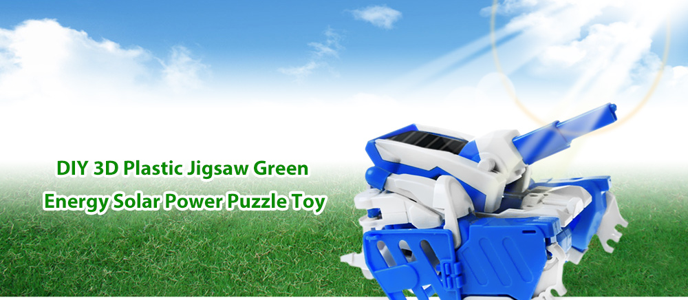 PXWG 3 in 1 DIY 3D Puzzle Green Energy Solar Power Energy-saving Toy