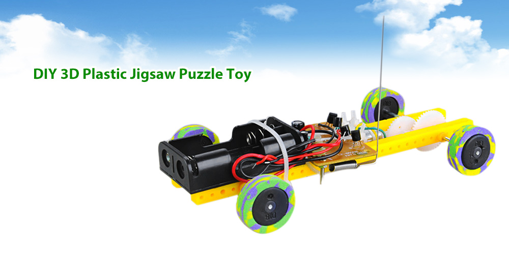 PXWG DIY Jigsaw Plastic 3D Vehicle Style Electric Powered Toy