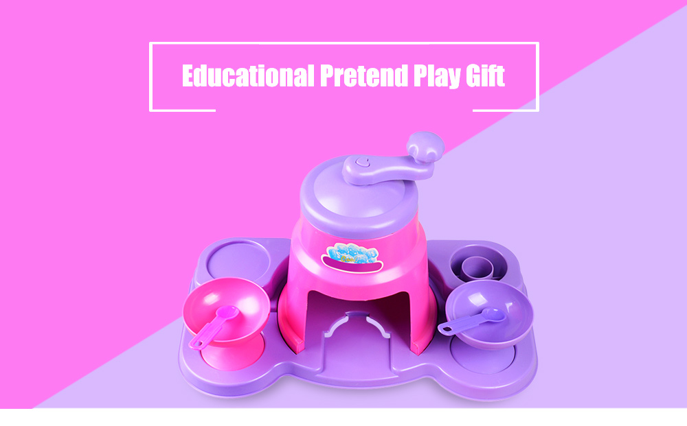 Simulation Appliance Ice Crusher Educational Pretend Play Household Toy Gift