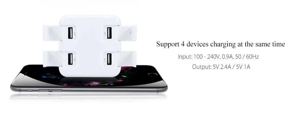 4 USB Quick Charge Power Charger Adapter Dock