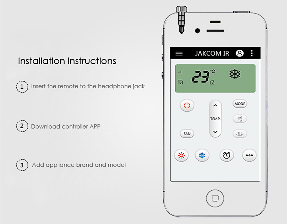Jakcom Smart Controller Protable Infrared Remote Control Anti-dust Plug for iPhone / iPad / Touch