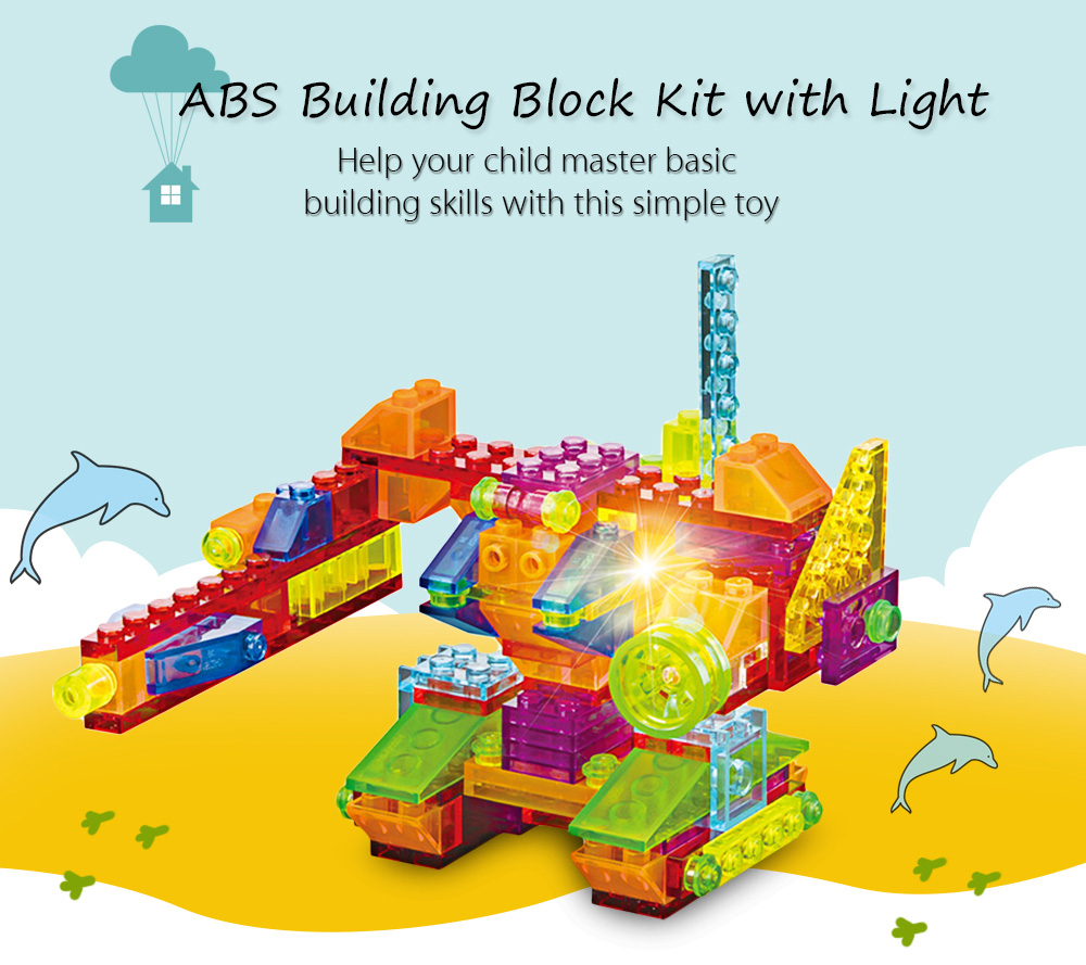 6 in 1 ABS Anime Figure Building Block Educational Kid Toy with Light - 134pcs / set