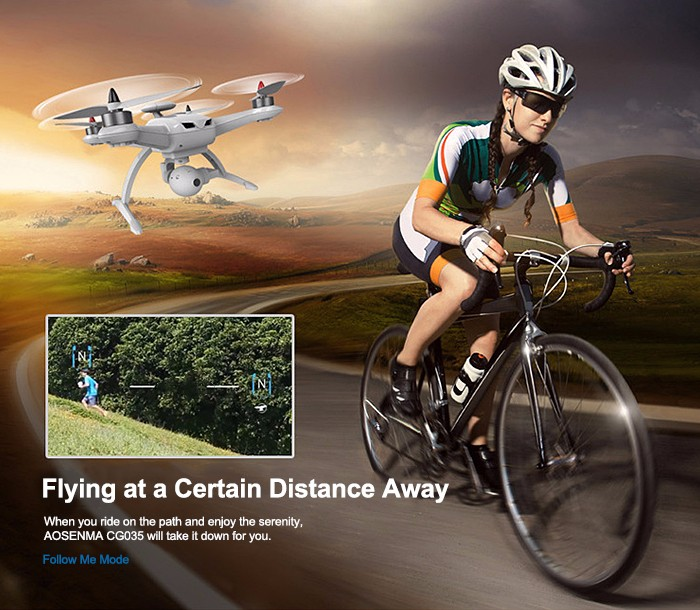 AOSENMA CG035 2.4GHz 4CH 6-axis Gyro Quadcopter with GPS Module / Air Pressure Altitude Hold