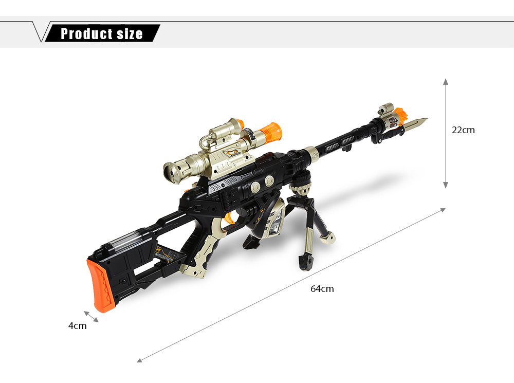 Octave Music Submachine Gun Role-playing Toy for Boy
