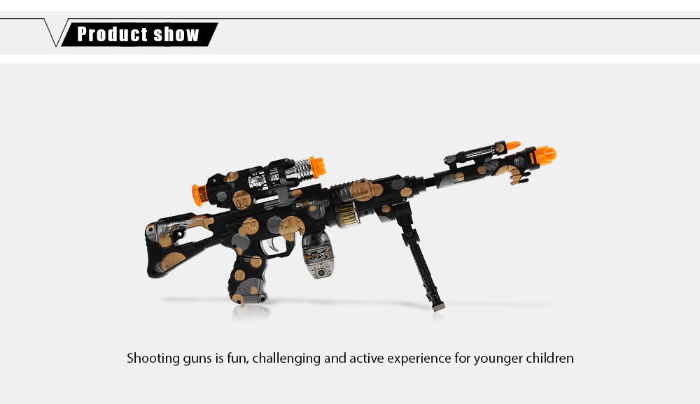 Octave Music Submachine Gun with Infrared Emitter Pretend Play Toy for Boy