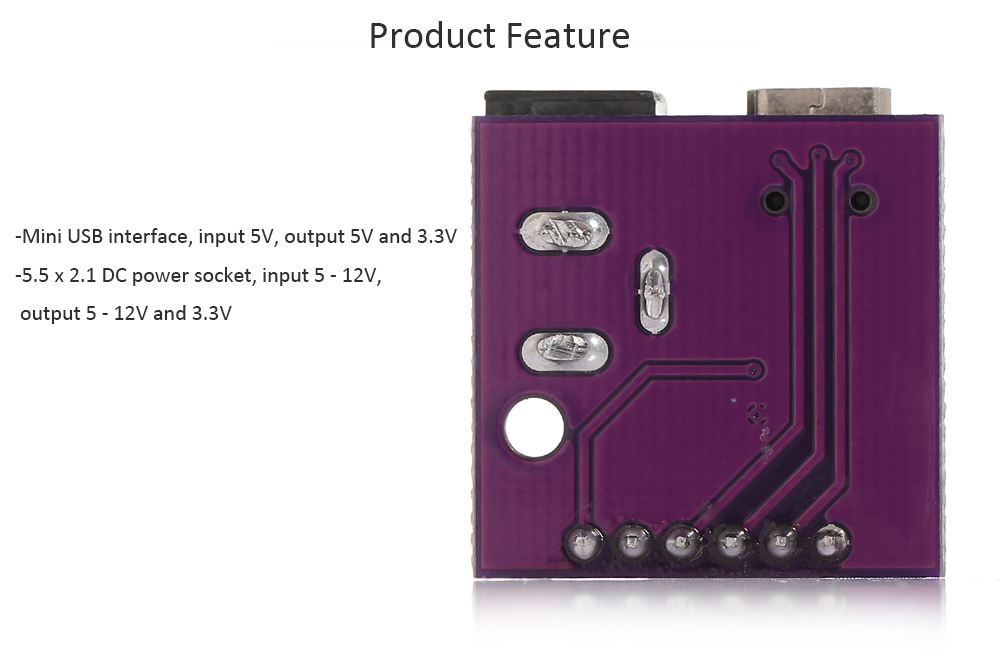 Mini USB / DC Power Socket Module for Electronic DIY Projects