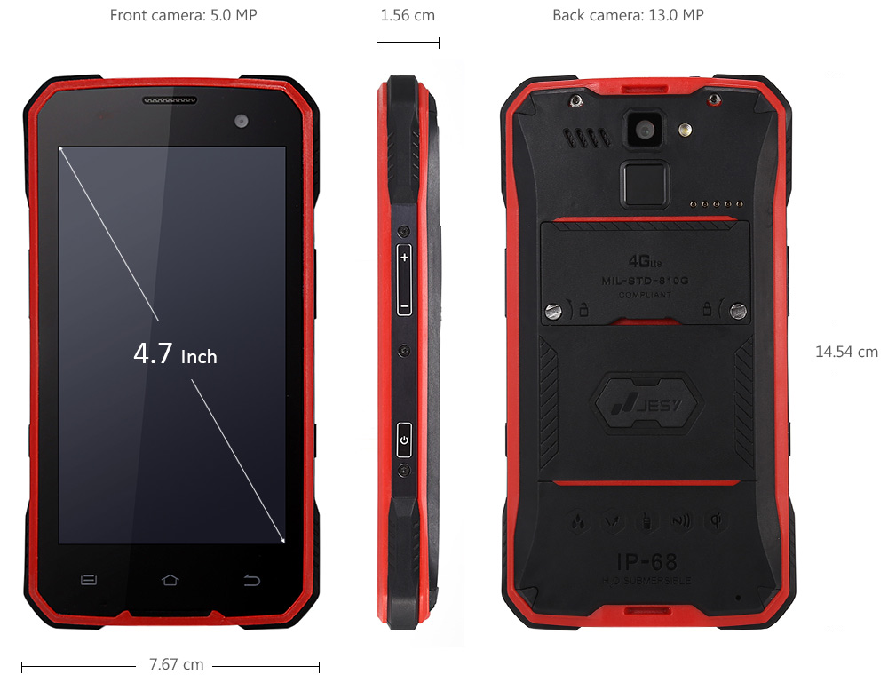 JESY J7 4.7 inch 4G Smartphone Android 6.0 MTK6753 Octa Core 1.3GHz 3GB RAM 32GB ROM 4100mAh Battery 5.0MP + 13.0MP Cameras NFC